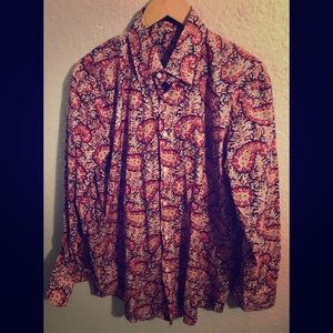 ALAN FLUSSER Paisley Button Down Shirt Medium